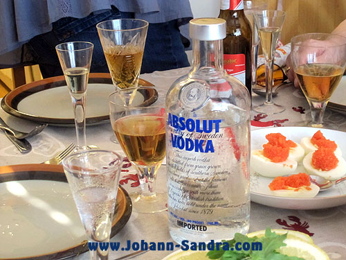 Absolut Vodka at a Kräftskiva