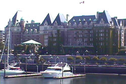Empress Hotel over the Harbor